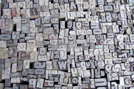 letters, metal, type - 445471