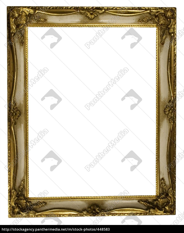white, golden, frame - 448583