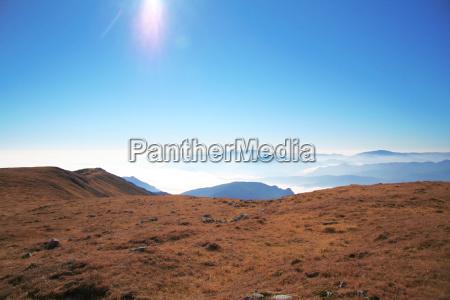 blue mountains alp austrians fog haze