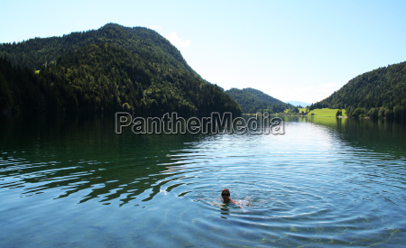 swimmer in hintersteiner see