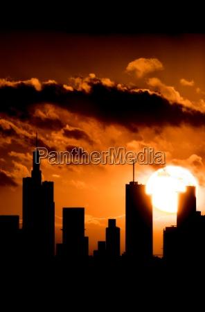 silhouette, of, frankfurt - 468245