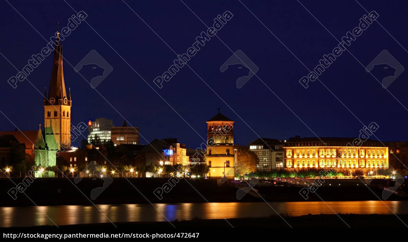 rhine, promenade, at, night - 472647