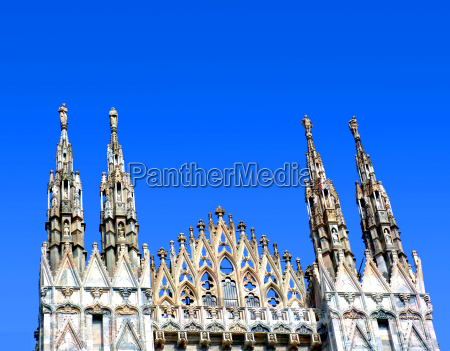 partial view of the duomo in