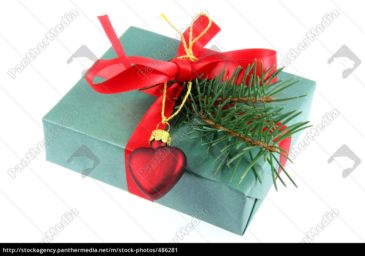 christmas, gift, with, heart - 486281