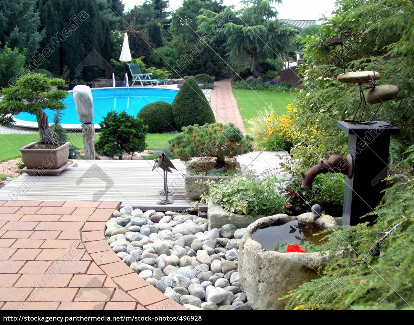 the, modern, garden - 496928
