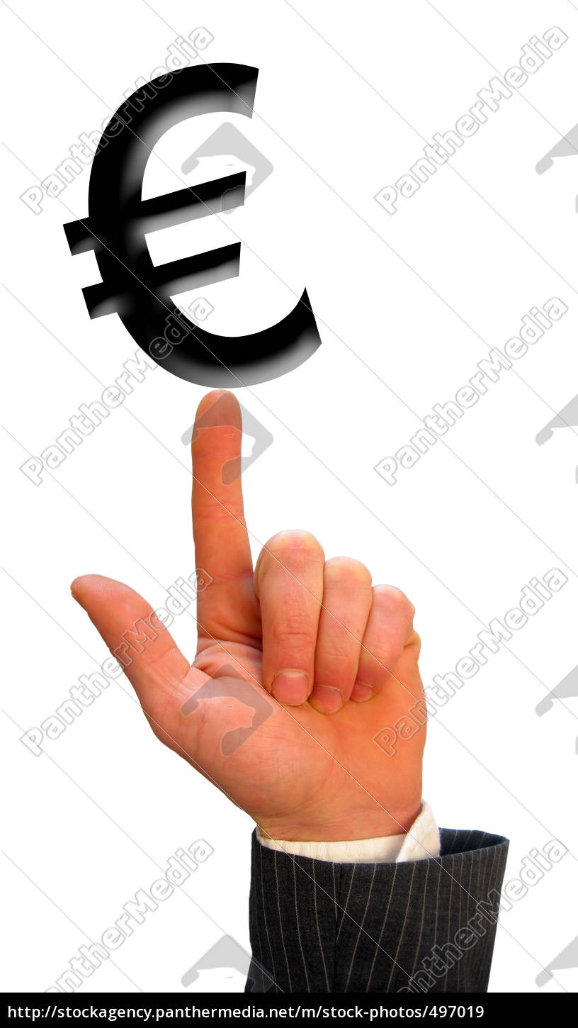 hand, and, euro, sign - 497019