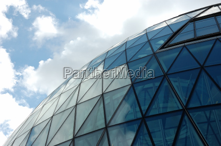 glass dome of office building