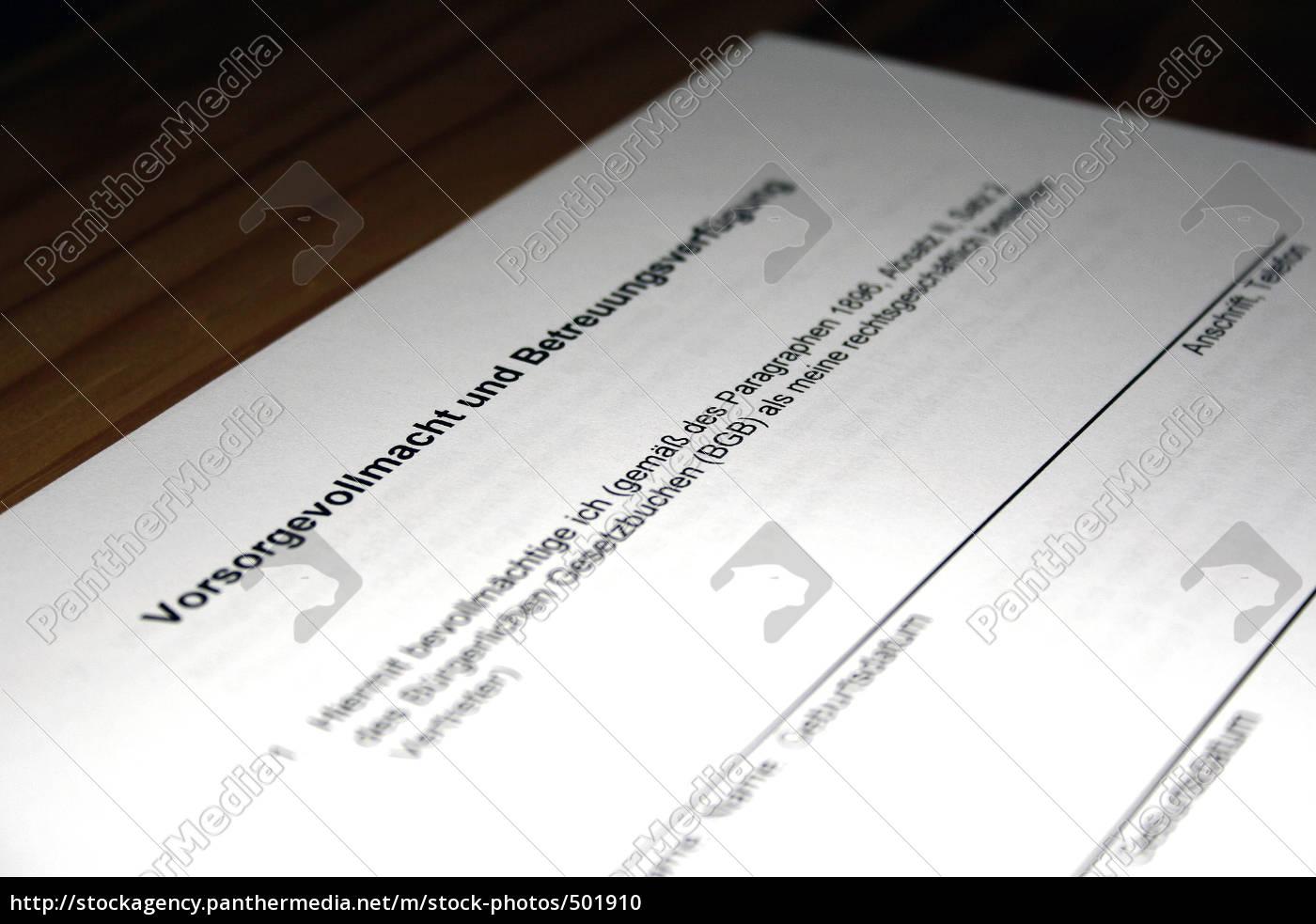 vorsorgevollmacht - 501910