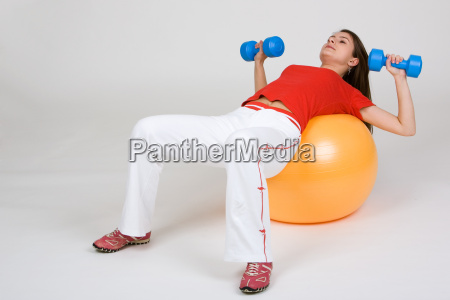 young, woman, with, exercise, ball, 6 - 501203