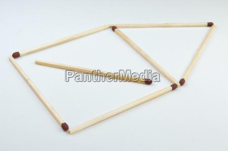 matchstick, house - 511082