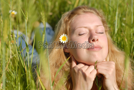 young, woman, enjoys, the, summer - 514789