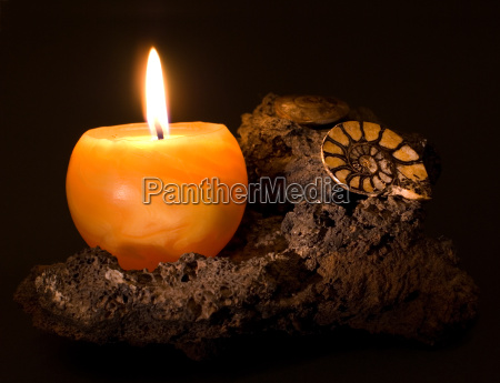 candle lava and ammonites
