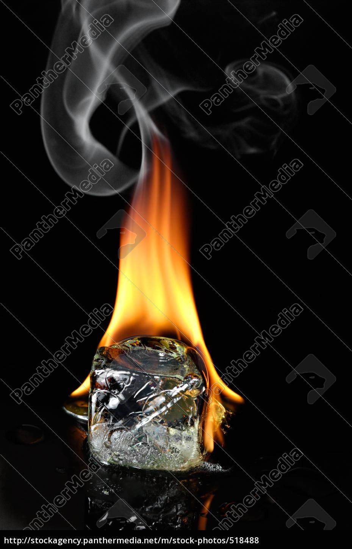 burning, ice, cube - 518488