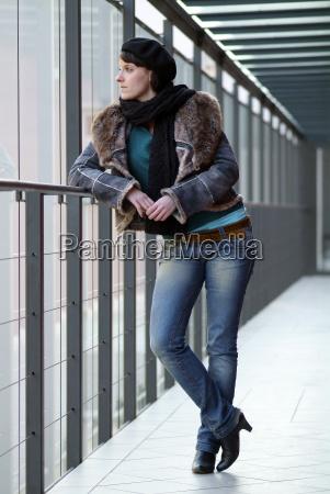 woman at the railing