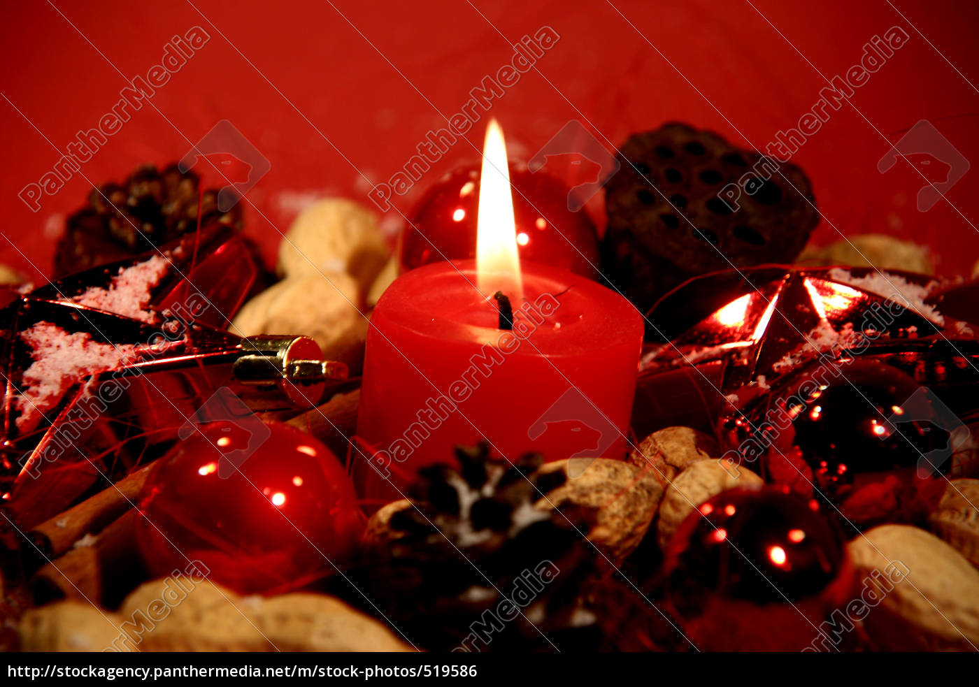red, candle - 519586