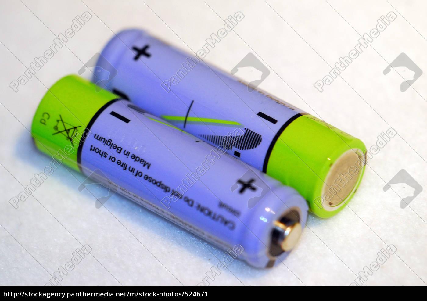 batteries, blue-green - 524671