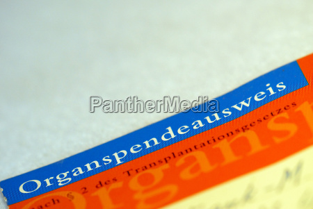 organ, donor, card - 530027