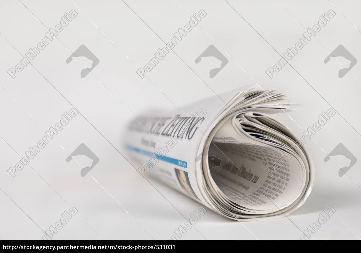 rolled, newspaper - 531031