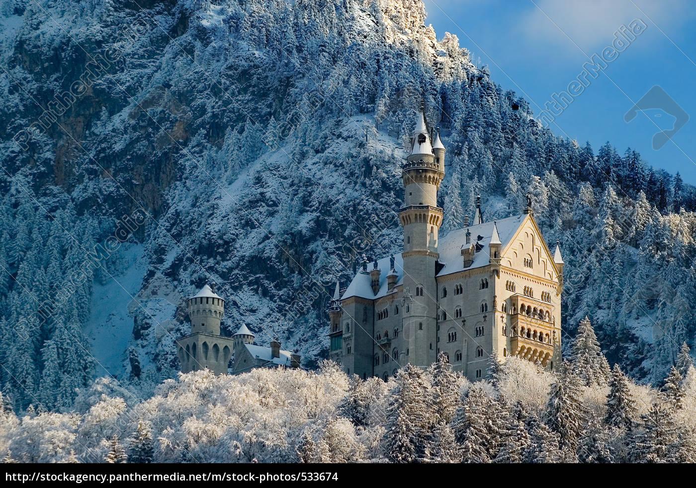neuschwanstein, in, winter - 533674