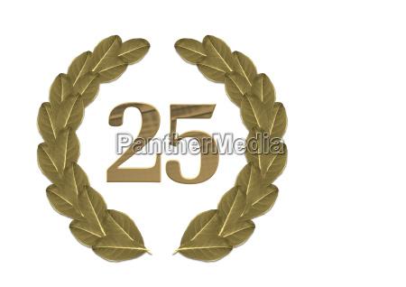 laurel, wreath, 25th, anniversary - 538720