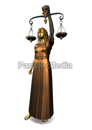3d statue of lady justice
