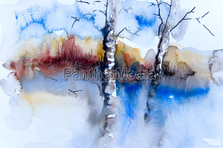 landscape, watercolor - 543568