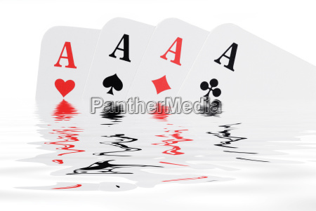 four, aces, with, wasserspiegelung - 544470