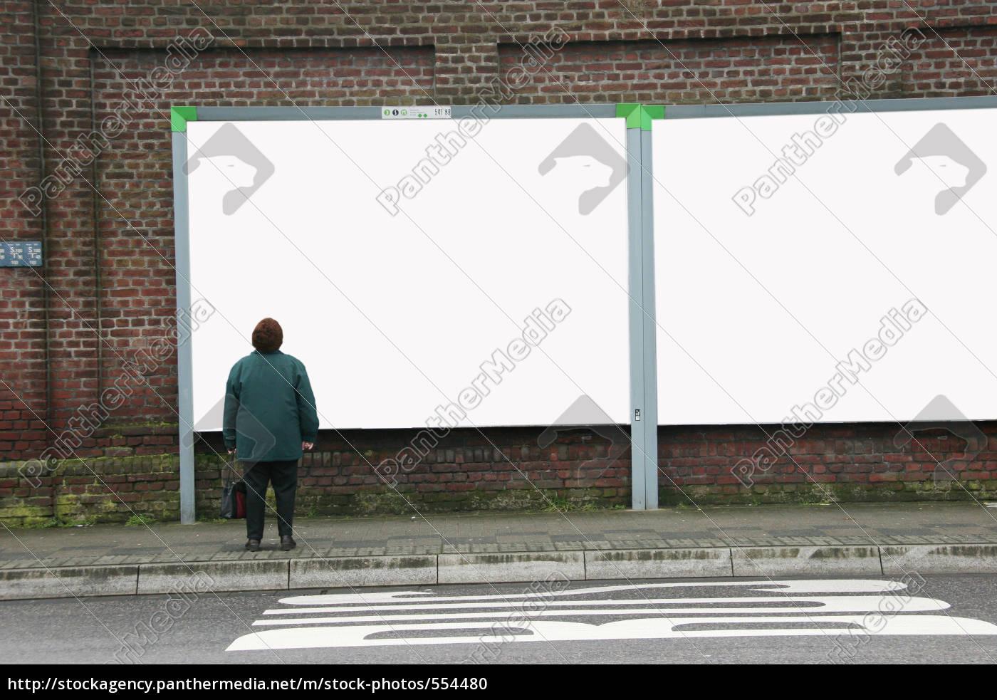 woman, with, billboard - 554480