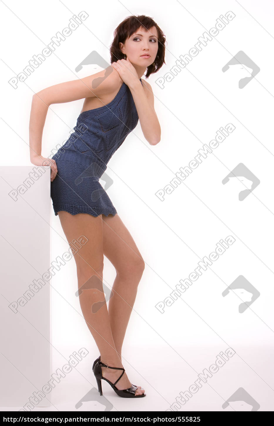 woman, minnikleid, and, high, heels, 2 - 555825
