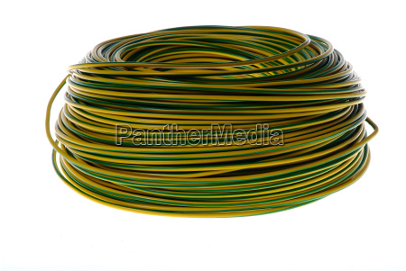 yellow green cable reel