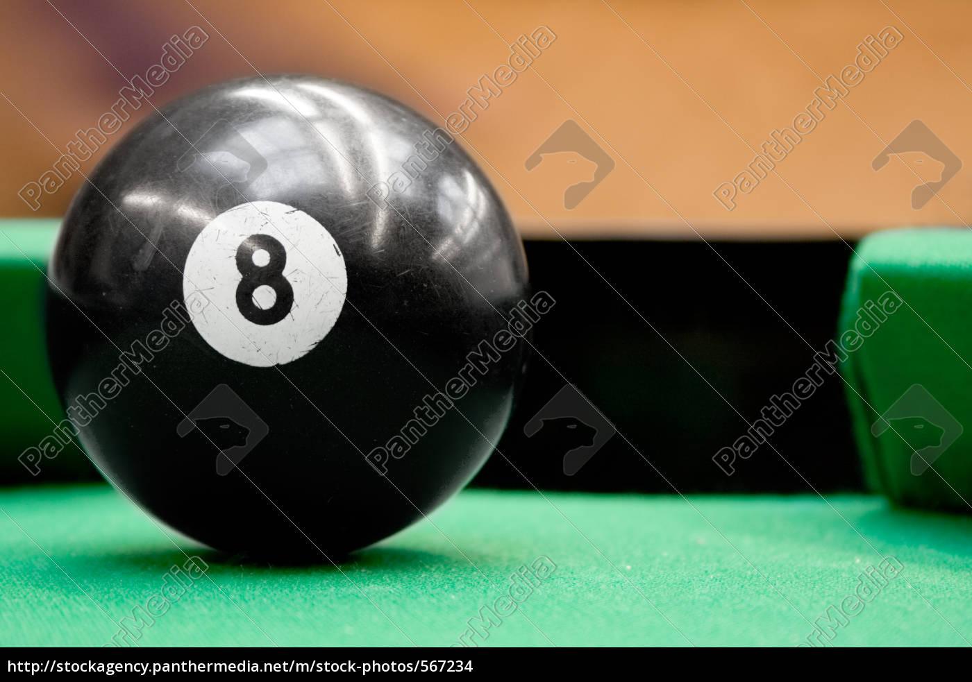 billiard, ball, no., 8 - 567234