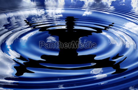 flying, boy, -, water, reflection - 572210