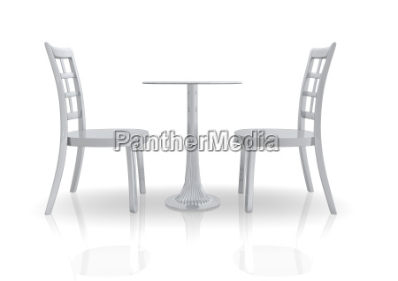 chair, and, table, 3d - 574859