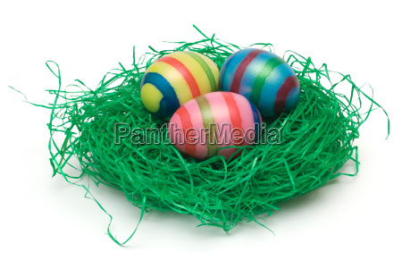 three, easter, eggs, in, nest - 574742