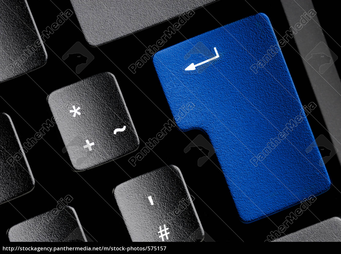 keyboard, with, blue, button - 575157