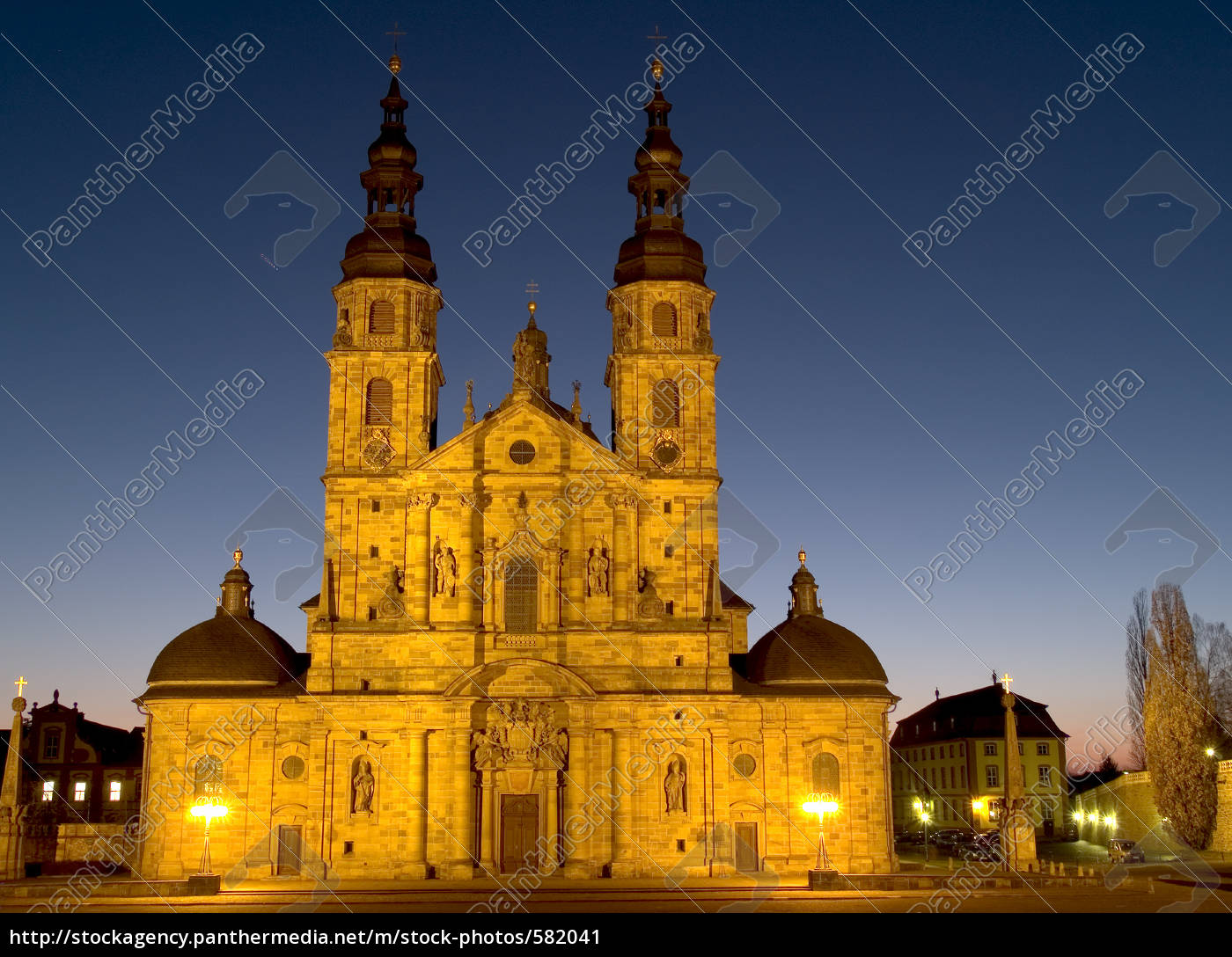 fulda, cathedral, view, 2 - 582041