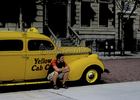taxi yellow cab car usa
