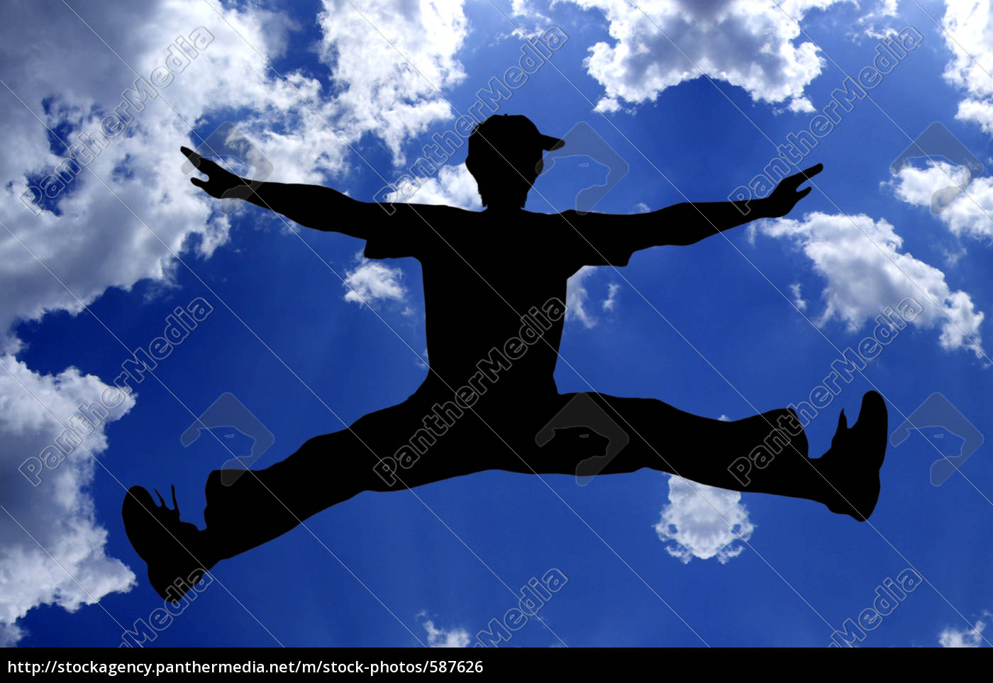 flying, boy, blue - 587626