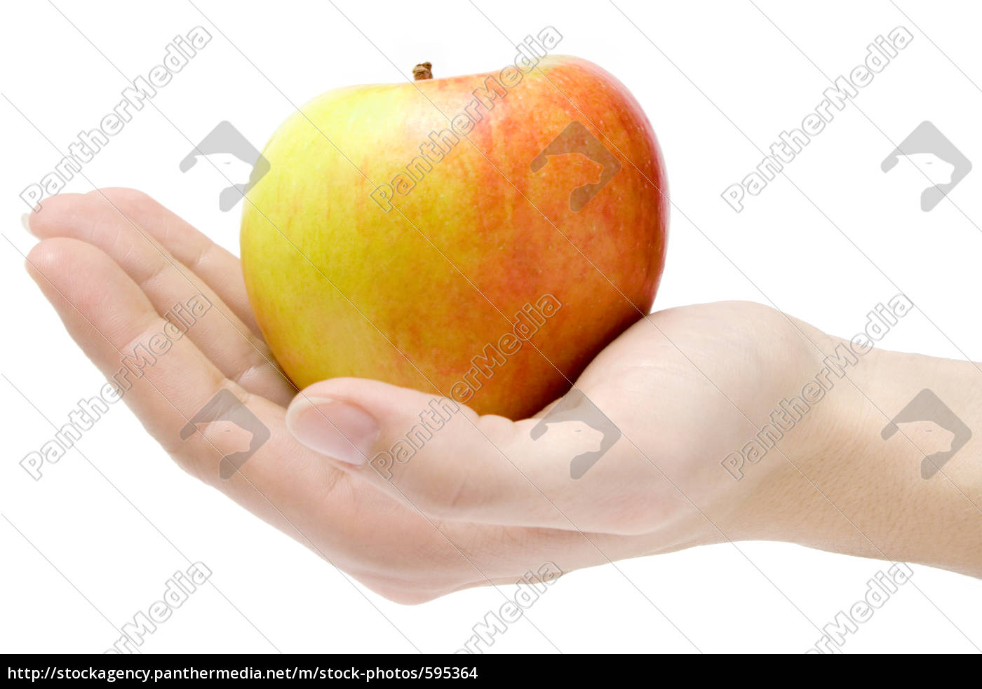 hand, with, apple - 595364