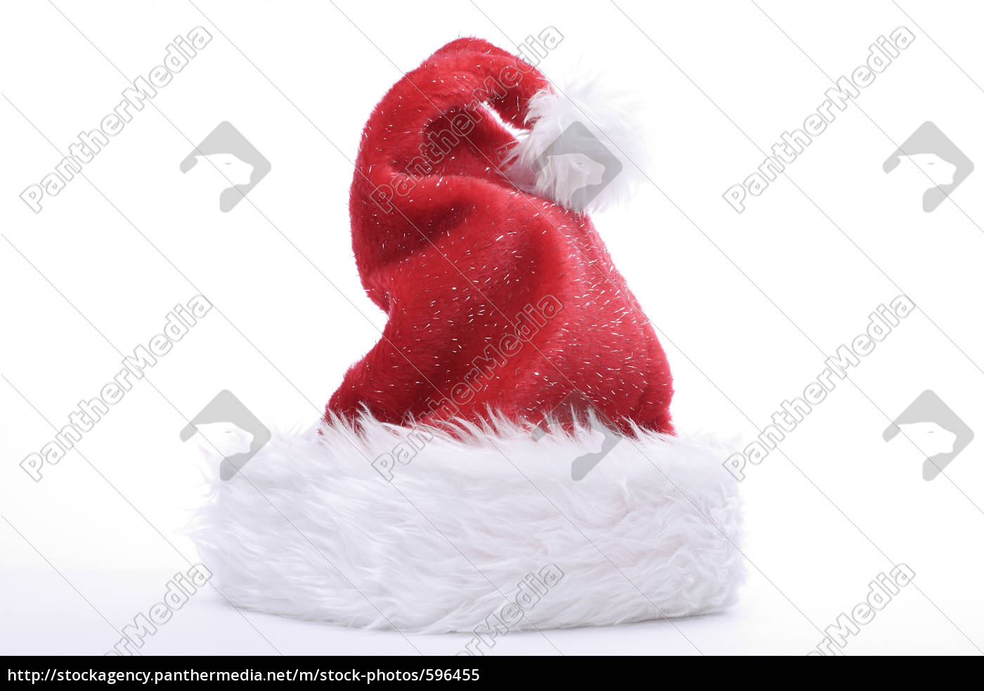 santa, claus, hat, with, glitter - 596455
