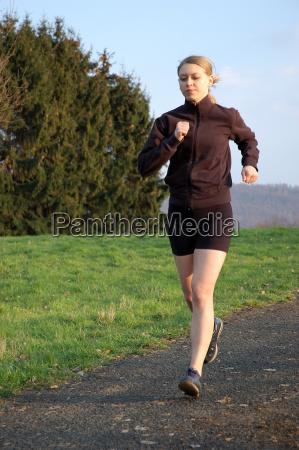 young, woman, jogging - 597437