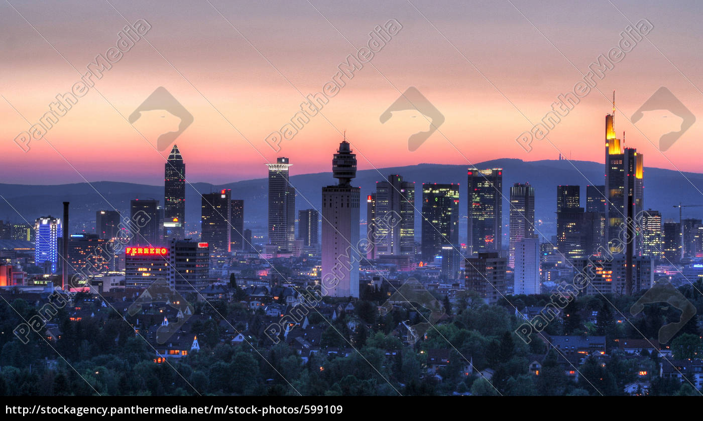 skyline, sunset - 599109