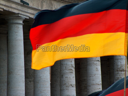 germany flag in front of the