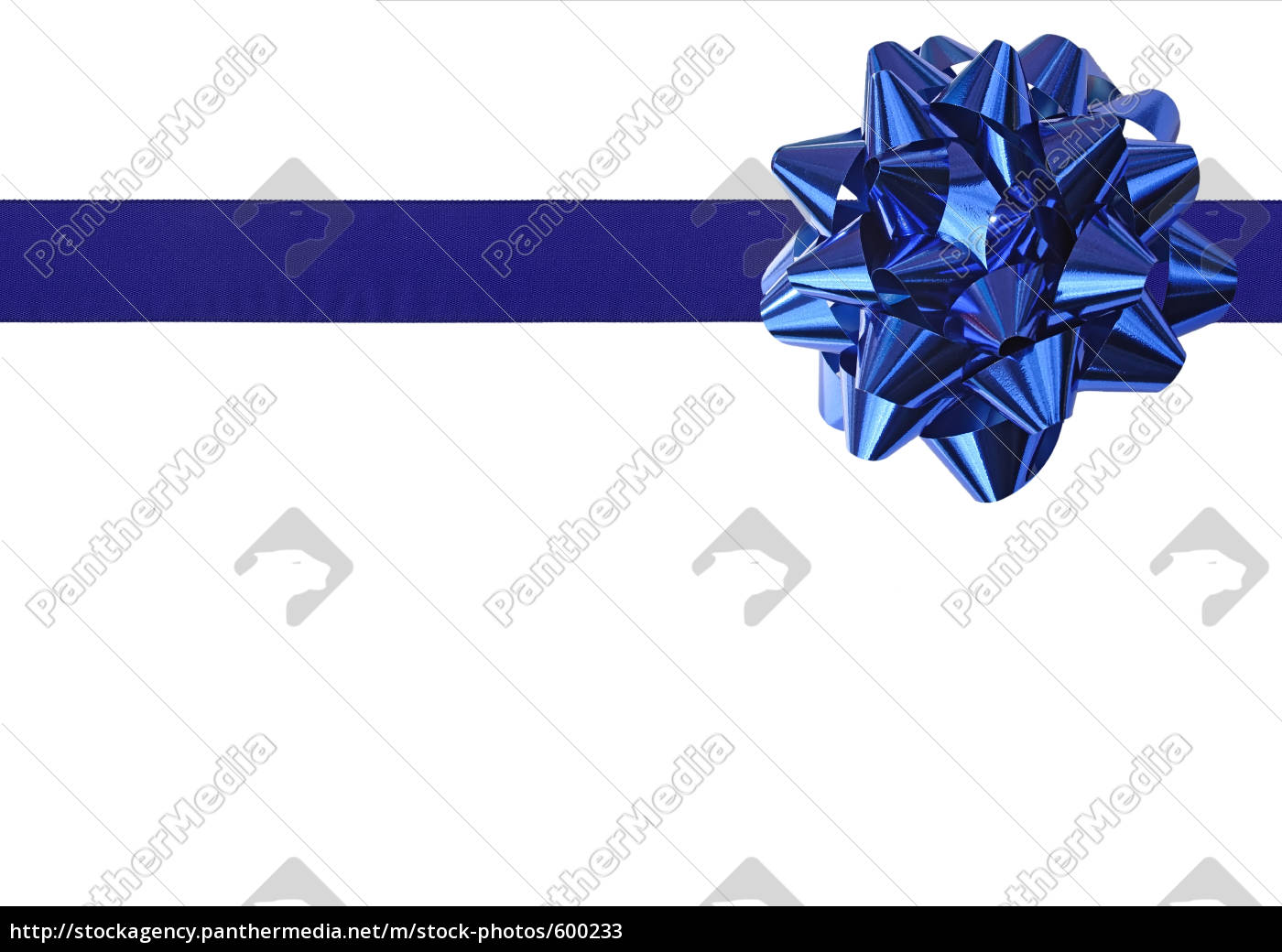 blue, gift, bow - 600233