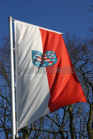 thuringian, state, flag - 608153