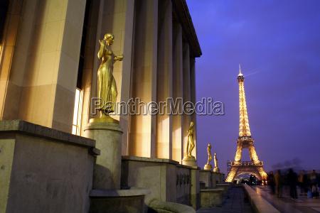 paris trocadero eifelturm