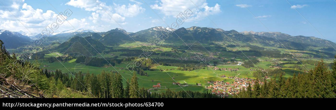 oberallgäu, panorama, 2 - 634700