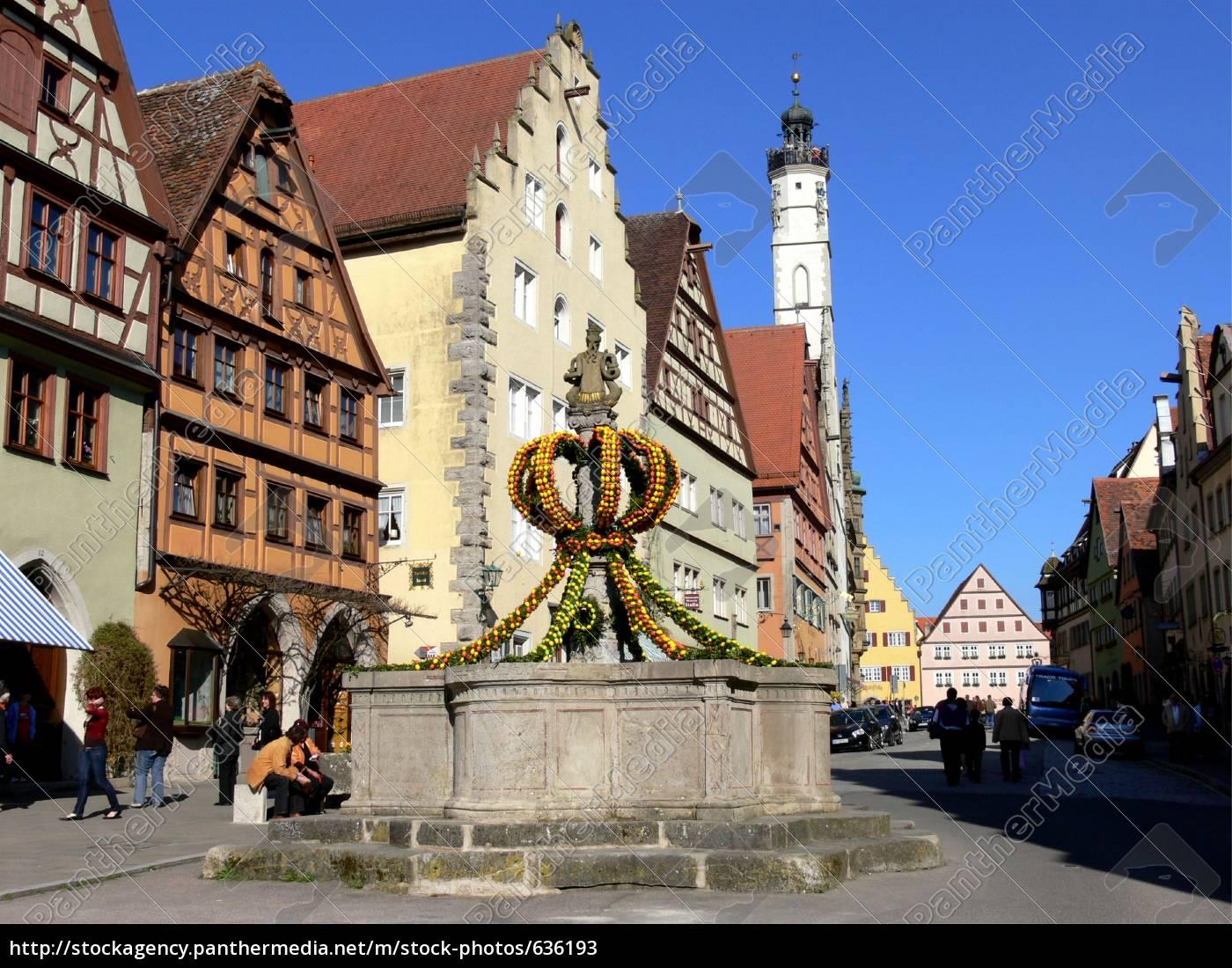 easter, fountains, rothenburg - 636193