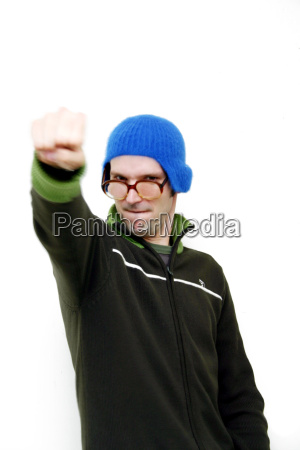 young, man, with, fist - 649372