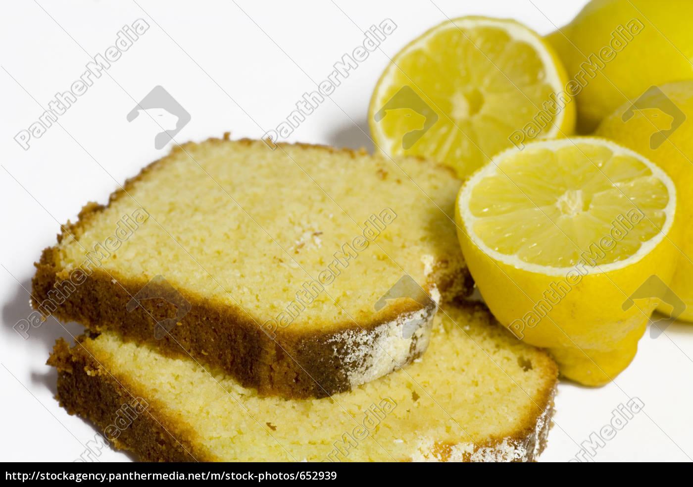 lemon, cake, on, white, background - 652939